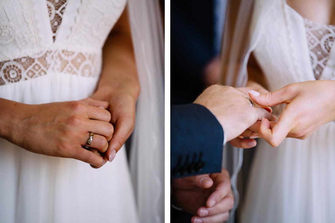 Ringe werden getauscht