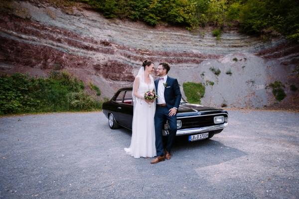 Shooting mit Hochzeitsauto