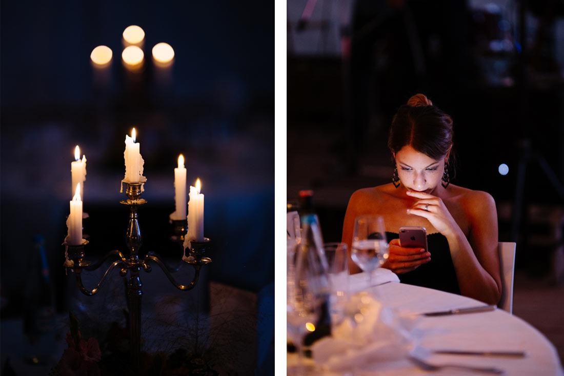 Kerzenschein und Handy