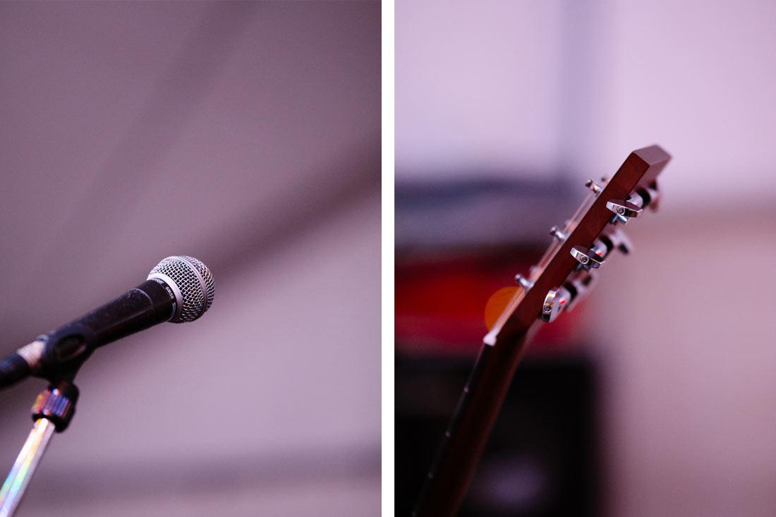 Mikrophon und Gitarre