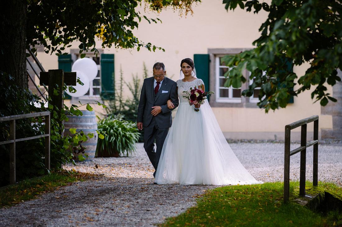 Braut und ihr Vater