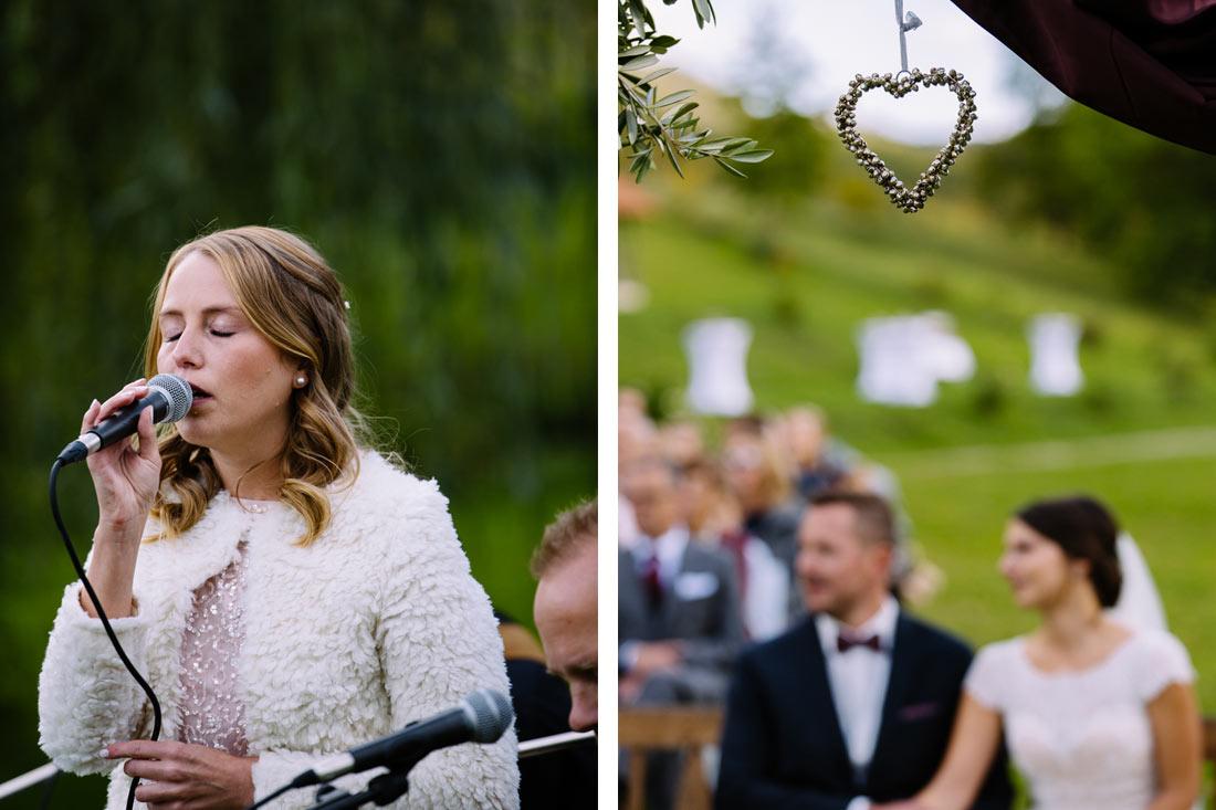 Gesang für das Hochzeitspaar