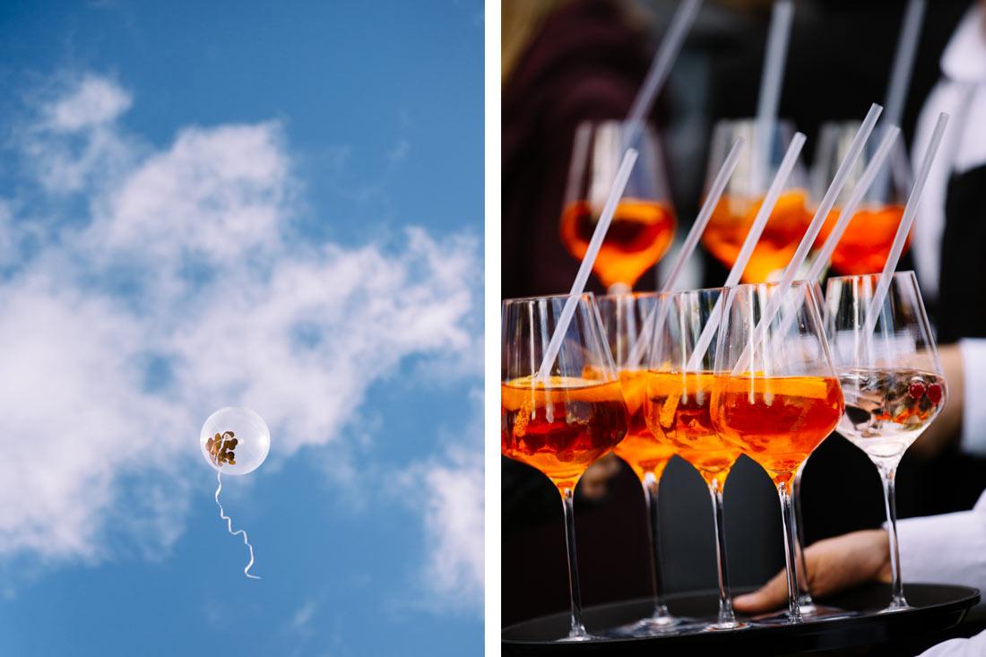 Ballon und Cocktails
