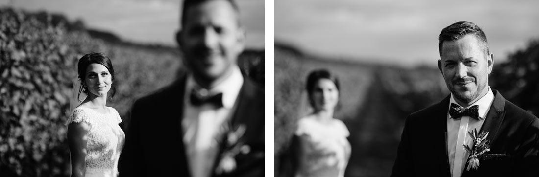 Coole Schwarz-weiss Hochzeitsfotos