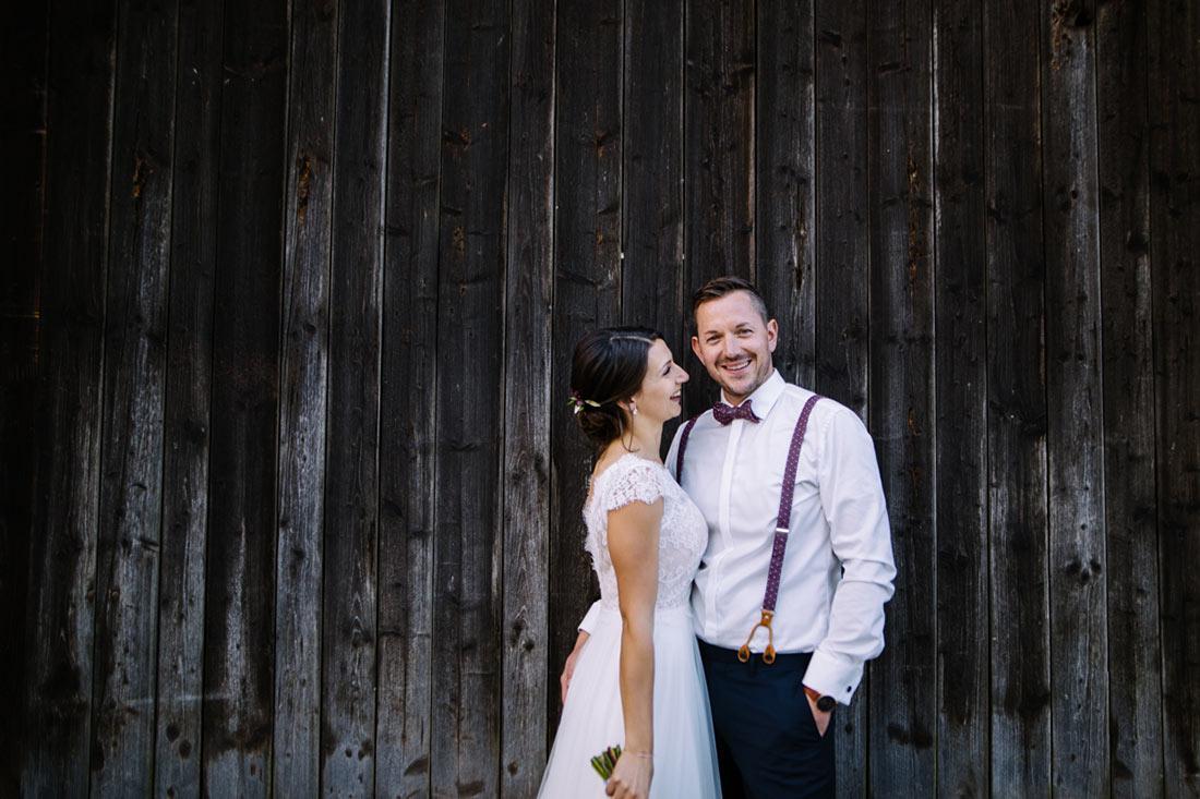 Glückliches Paar auf dem Steinbachhof