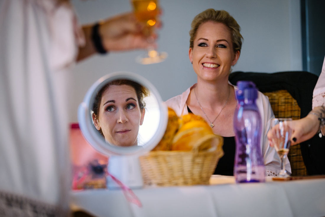 Spiegelbild der Braut
