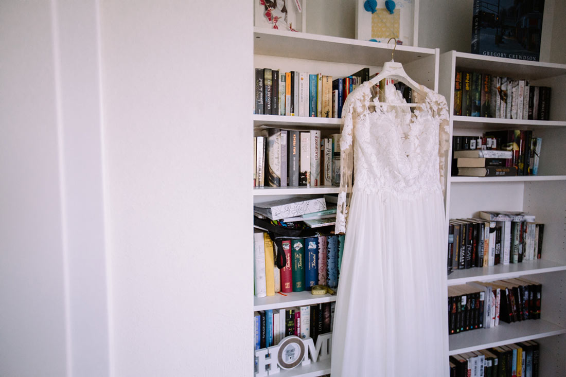 Das Brautkleid wartet