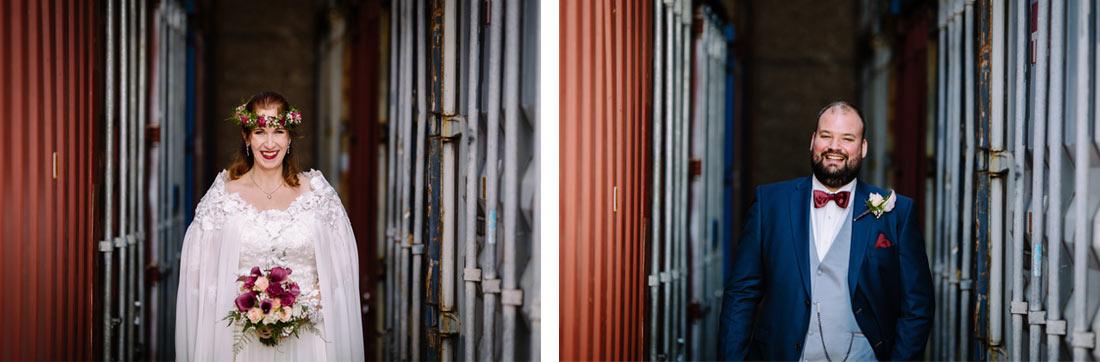 Portraits zwischen Container