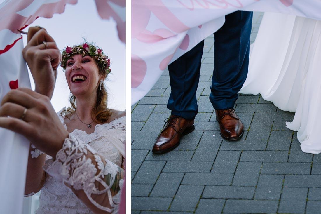 Braut mit der Schere